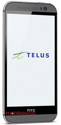 Press shot of the HTC One (2014) for Telus - The HTC One (2014) appears in a press shot for Telus