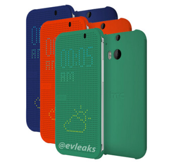 The flip case for the HTC One (2014) will come in three colors