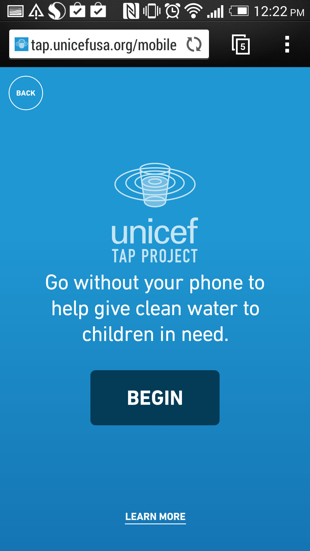 Unicef Tap Project App Iphone