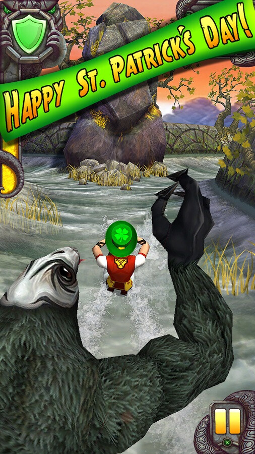 Temple Run 2 is already celebrating St. Paddy's with artifacts and a hat