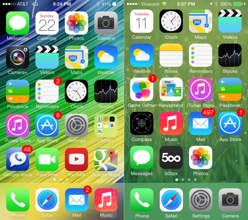 Slightly different icons: a different shade of... green