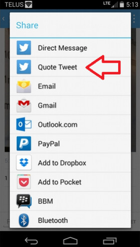 Twitter's Android beta moves quote re-tweets to the Share menu - Twitter is testing some changes on the beta version of its Android app