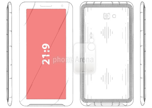 "Samsung granted design patent for a ""phone"" with a 21:9 aspect ratio screen"
