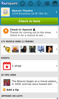 Foursquare updates BB 10 app with new look and food delivery services