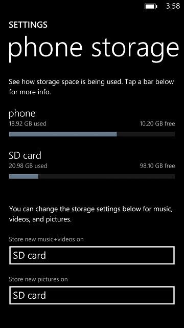 User finds out Windows Phone 8 has 128GB microSD card support