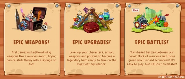 Angry Birds Epic Weapons Upgrades and Battles