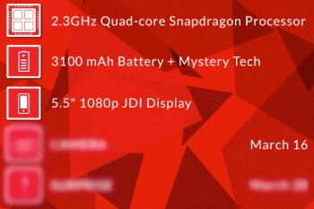 OnePlus One specs revealed so far.