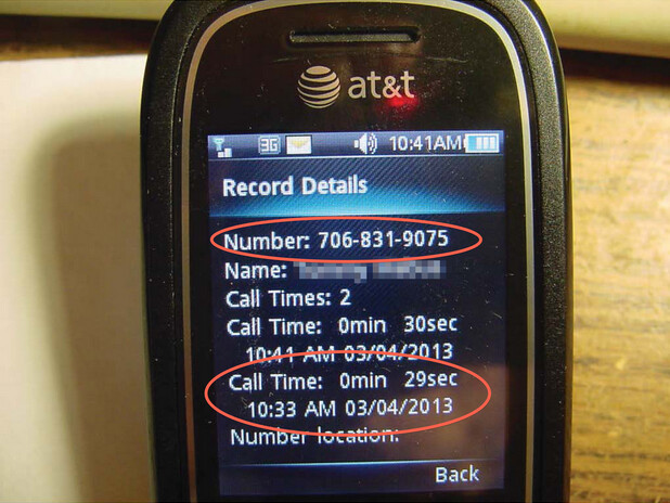 Time of call measured on the phone does not match up with AT&T's website