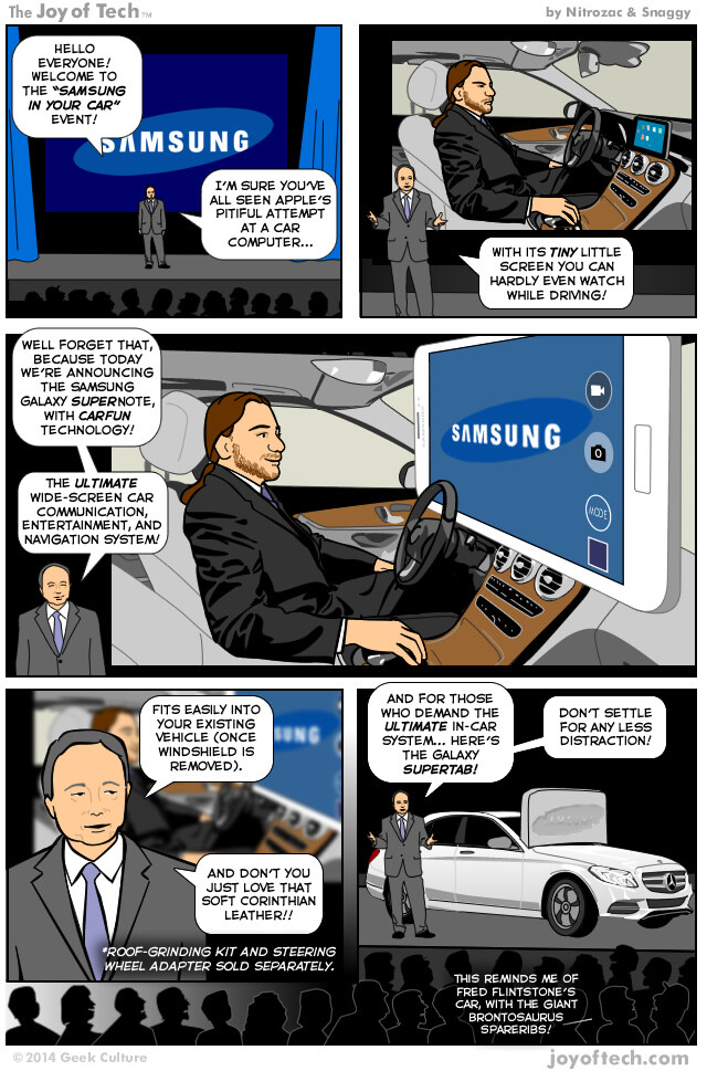 Humor: Samsung shows us how to do real in-car integration