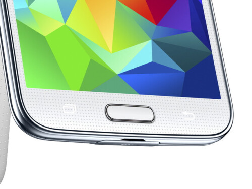 The Galaxy S5 has a fingerprint scanner embedded in its home key