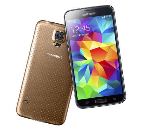 The Samsung Galaxy S5 has a 5.1-inch, Full HD, Super AMOLED display