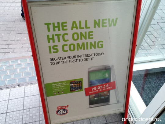The All New HTC One is advertised on a U.K. street - The All New HTC One is advertised on a U.K. street