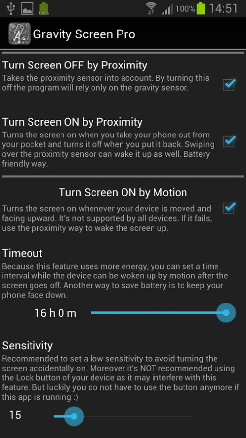 Gravity Screen for Android