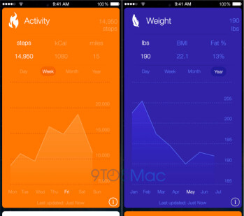 Apple Healthbook app leaks out: a health & fitness tracking hub