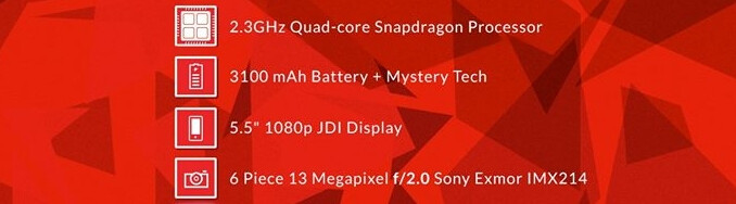 OnePlus One features a 13MP Sony Exmor IMX214 rear camera and a 5MP front-facing camera