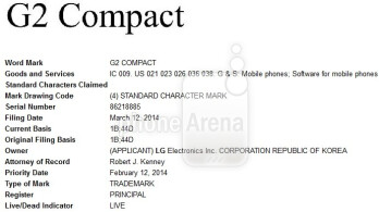 "LG wants to trademark the ""G2 Compact"" name"