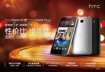 HTC Desire 516 seemingly has a variant called Desire 316