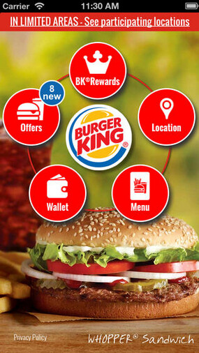 Burger King's app offers mobile payment feature, coupons and more - 7000 Burger King locations will soon accept the Rewards mobile payments app