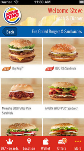 Burger King's app offers mobile payment feature, coupons and more