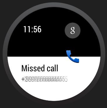 Missed calls are also displayed...