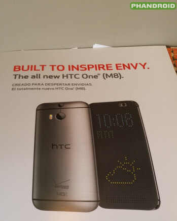 Leaked Verizon marketing poster for the all new HTC One (M8)