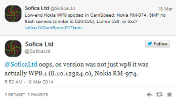 Visit to Sofica Speedcam reveals that Windows Phone 8.1 was spotted on the unannounced Nokia Lumia 630