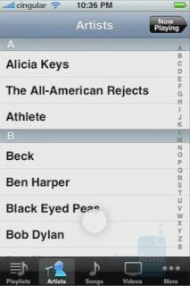 Music Player Interface - Apple iPhone is real and coming to Cingular