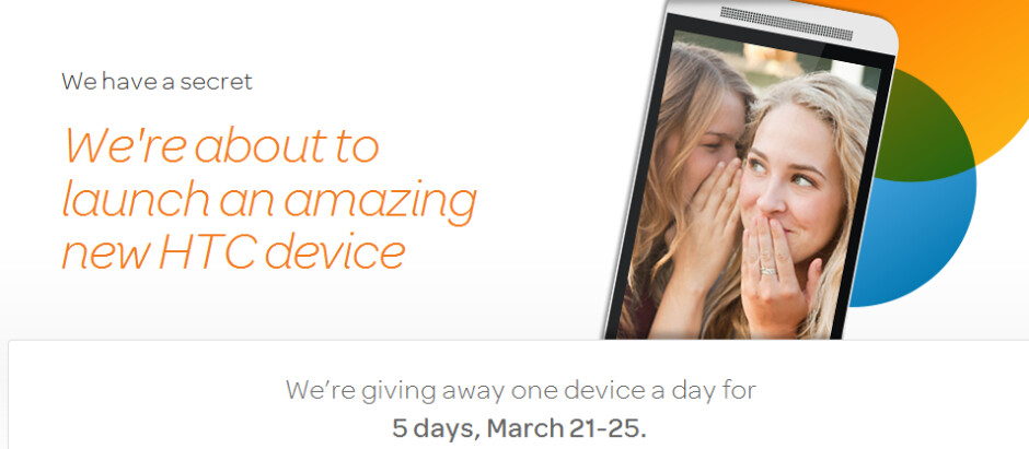 AT&T teases the all new HTC One (M8) - AT&T teases new HTC device; carrier is giving away one a day for the next five days