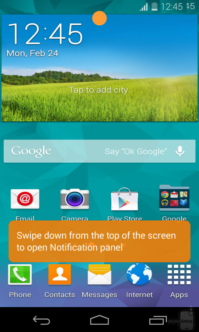samsung s galaxy s5 experience app lets you see some s5