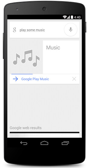 Tell Google Now that you want to play some music and it will oblige - Tell Google Now that you want to hear some music and it will oblige
