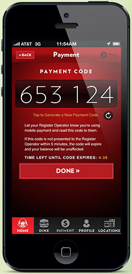Screenshots of the My Wendy's app - Wendy's app now allows you to pay online