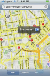 Google Maps - Apple iPhone Interface