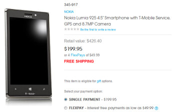 The Nokia Lumia 925 is just $199.95 at HSN