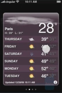 Widgets - Apple iPhone Interface - Apple iPhone is real and coming to Cingular