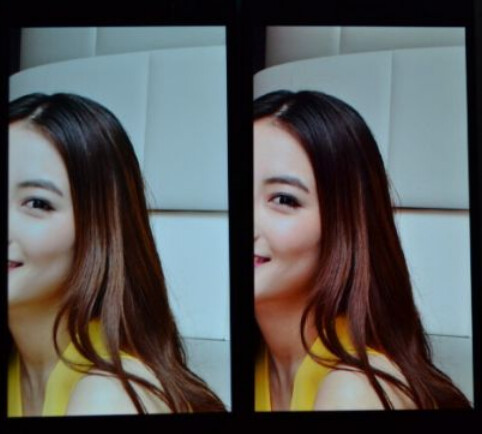 Image from Oppo Find 7 on left, Oppo Find 7a on right