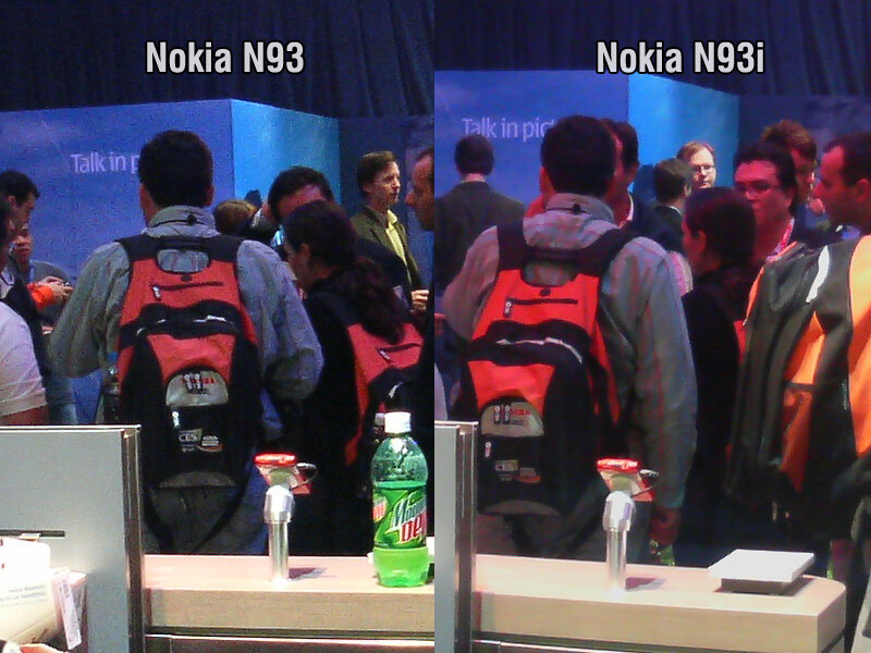 Nokia N93i vs N93 camera performance - CES 2007: Live Report