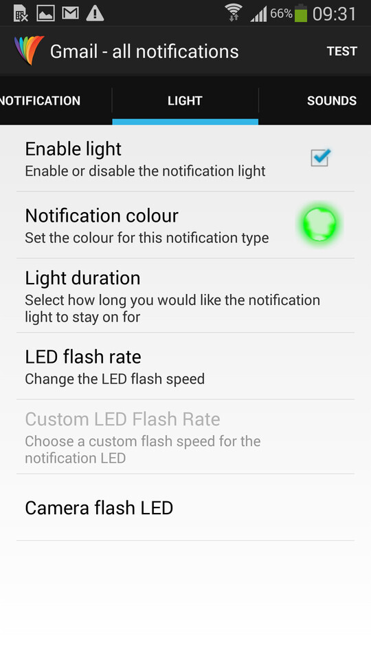 Pick Notification Color