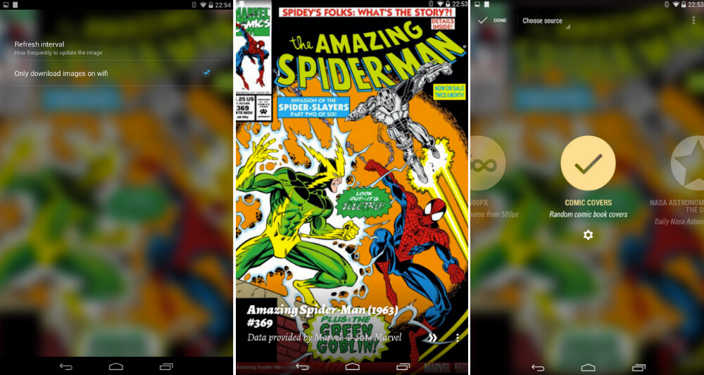 Comic Book Cover Background : Muzei gets a plugin to have comic book covers as your