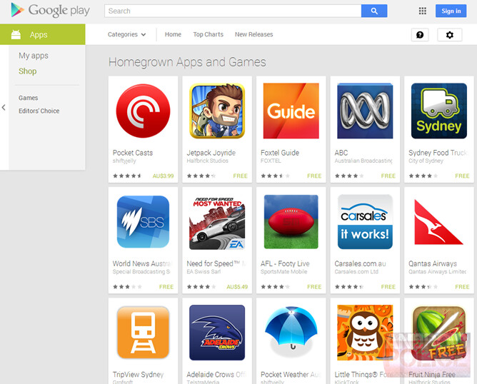 Google Play highlights locally made apps in Australia