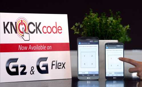 LG Knock Code will be available on the G2 and G Flex in April after a software update