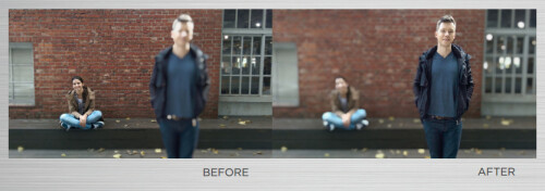 'Duo' camera effects: After-shot image focus selection