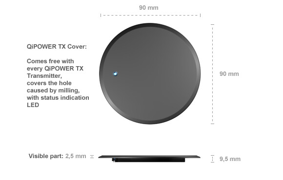 QiPOWER TRX startup lets you build wireless charging into your furniture