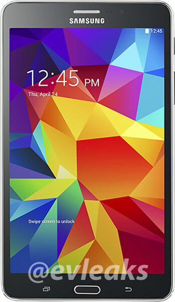 Unannounced Samsung Galaxy Tab 4 7.0 pictured (black and white versions)