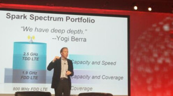 Sprint CEO Dan Hesse explains the future of Sprint's network. Note the quote from Yogi Berra on the slide