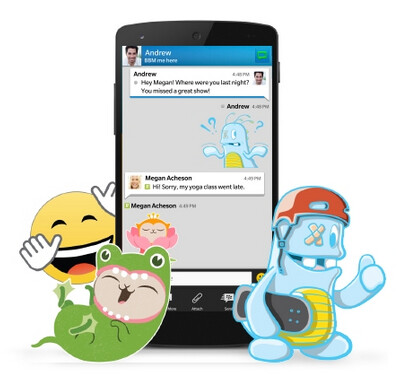 Stickers are coming to BBM after an update to the app next week - Update to BBM app next week will allow users to add stickers to BBM chat