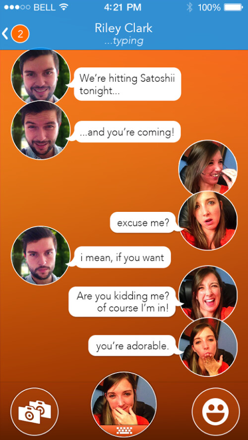 React Messenger for iOS ditches smilies in favor of real human expressions