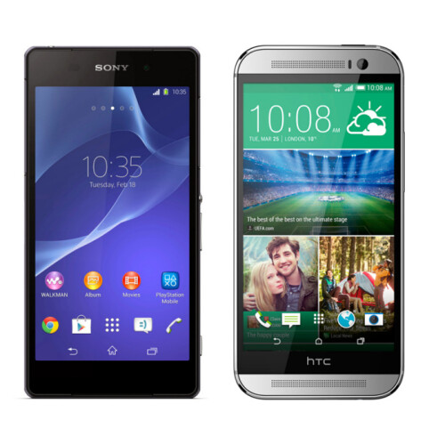 Sony Xperia Z2 vs All New HTC One