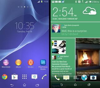 Sony's custom Android UI vs HTC Sense 6.0 - Sony Xperia Z2 vs HTC One (M8): preliminary comparison