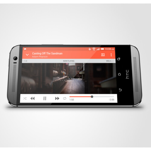 The new HTC One has front-facing stereo speakers