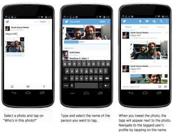 Twitter updates its mobile apps with multi-upload and photo tagging